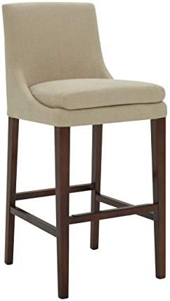 Amazon Brand Stone Beam Elise Upholstered Barstool, 42.5 H, Hemp