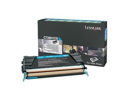 (Lexmark C736H1CG High Yield Toner Cartridge, Cyan)