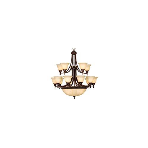 Lighting Bronze Chandelier Aztec - Chandeliers 15 Light Fixtures with Aztec Bronze Finish Steel Material Medium 34
