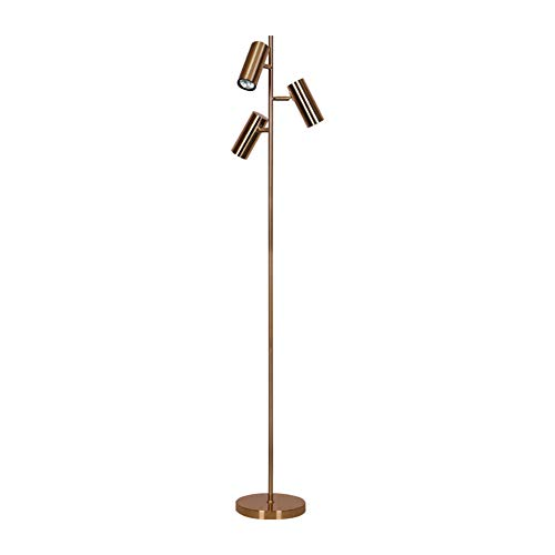 Modern LED Living Room Floor Lamp GU10 3 Vertical Floor Lamp Indoor Lighting, Nordic Bedroom Bedside Lamp Metal Floor Lamp