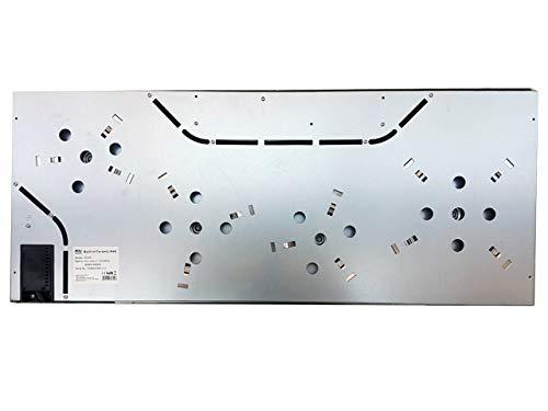 NJ CH-90 Cocina eléctrica de cerámica 4 zonas de cocción 90cm de vidrio incorporado Control táctil Negro