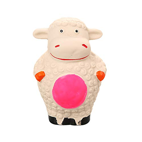 Alamana Latex Cartoon Sheep Shape Squeaker Pet Dog Puppy Chewing Teeth Cleaning Play Toy Puppy Dog Chew Toy - Mat Squeaker Sheep