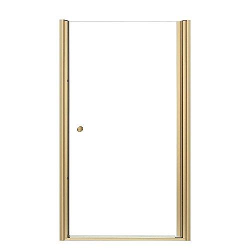 (KOHLER K-702414-L-ABV Fluence Frameless Pivot Shower Door, Anodized Brushed Bronze)
