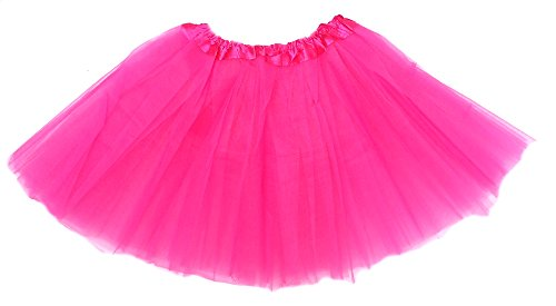[Teen and Adult Tutu Fits 12 - Adult Small (Hot Pink)] (Hot Costumes For Teens)