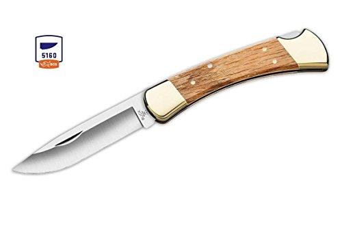 Buck Knives 110 Oak Drop Point 5160 High Carbon Folding Hunter Knife Factory Exclusive 110OKSSH1 ()