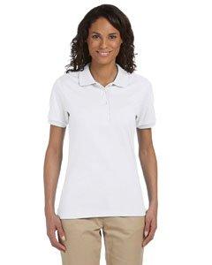 Jerzees womens 5.6 oz. 50/50 Jersey Polo with SpotShield(437W)-WHITE-XL