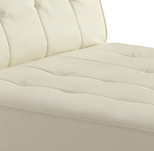 DHP Emily Chaise Lounger, Vanilla