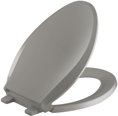 KOHLER K-4636-K4 Cachet Quiet-Close with Grip-Tight Bumpers Elongated Toilet Seat, Cashmere