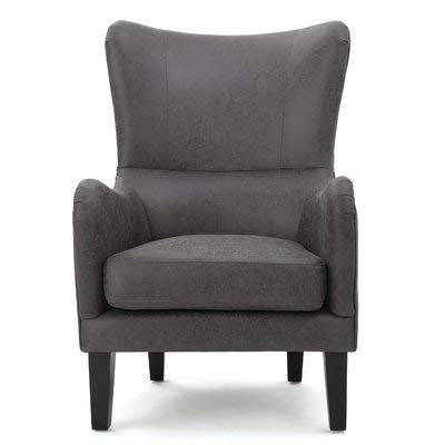 Amazoncom Fabric Accent Chair With Removable Cushions And Nailhead