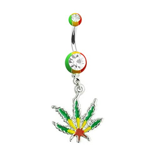 weed belly button rings - 1