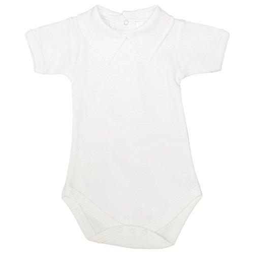 CARLINO Baby Polo Collar Short Sleeve Cotton Bodysuit