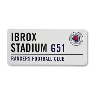 Rangers Fc Football Street Sign Official Board by Linenideas