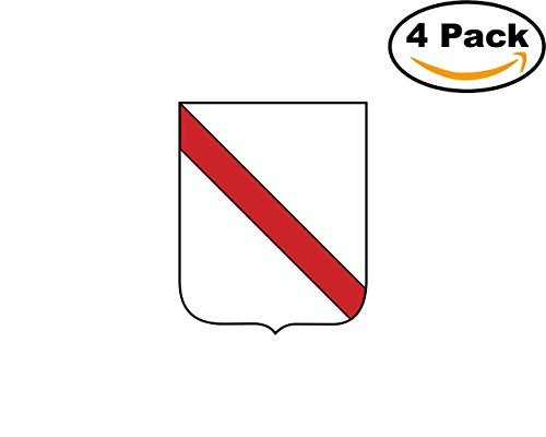 (Regione Campania 4 Stickers 4X4 inches Car Bumper Window Sticker Decal)