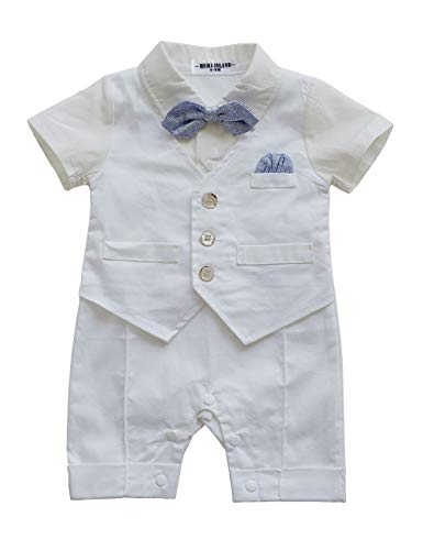 HeMa Island HMD Baby Boy Gentleman White Shirt Bowtie, used for sale  Delivered anywhere in USA