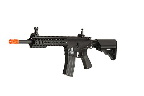 (UKARMS Lancer Tactical AEG M4 Keymod Electric Automatic Airsoft Rifle Gun - FULL METAL GEARBOX)