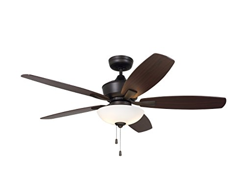 (Emerson CF825ORB Lindell 52-inch Transitional Ceiling Fan with Reversible Blades, 5-Blade Ceiling Fan with LED)
