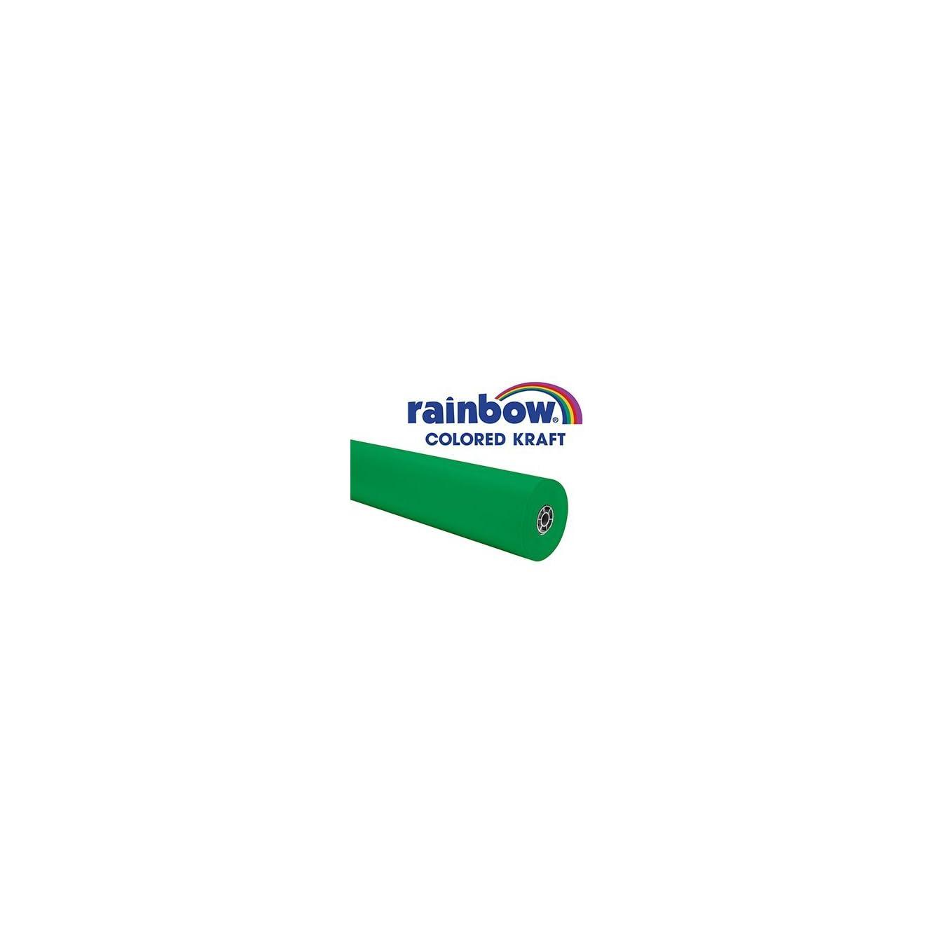 06ec327dda ... Rainbow Kraft 082284 Duo-Finish Kraft Light-Weight Paper Roll, 36 in x