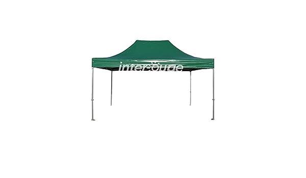 INTEROUGE PRO - Carpa Plegable de Jardín 3x4.5m para Fiesta Camping Terraza (50mm Estructura de Aluminio+Lona 520g/m² PVC,Adjustable de Altura): Amazon.es: Hogar