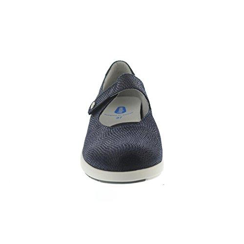 Wolky 02421-20800 - Bailarinas de Piel Para Mujer Azul