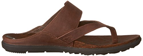 Merrell Women's Around Town Thong Buckle Sandal, Brown, 8 M US