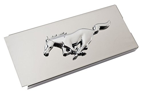 2011-2014 Mustang Polished Stainless Fuse Box Cover - Running Horse Emblem