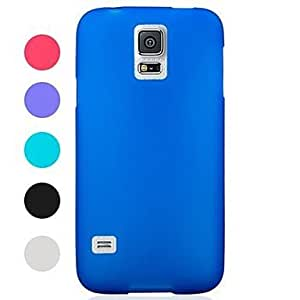CeeMart Pure Color Frosted Full Body with Soft Case for Samsung Galaxy S5 I9600 - Blue by ruishername