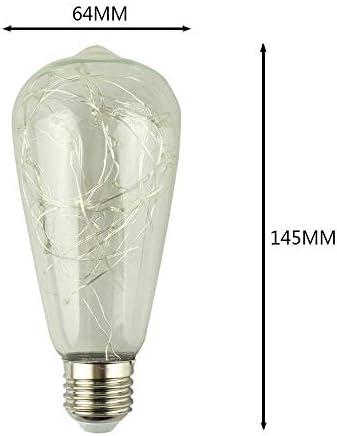 Farbwechsel Farbige Leuchtmittel St64 Kupferdraht Warmweiß Dekoratives Licht Edison Glühbirne Led Antike Retro-Glühbirne Ac85-265V E27