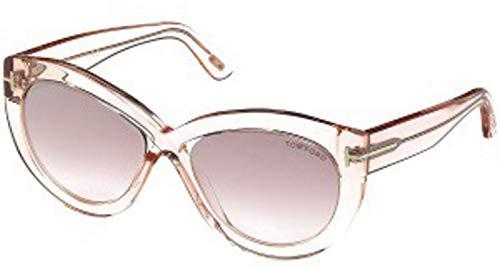 Shiny Violet Transparent Sunglasses - Sunglasses Tom Ford FT 0577 Diane- 02 72Z shiny pink / gradient or mirror violet