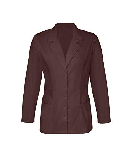 - Panda Uniform Custom Women's Short Medical Lab Coat 30-Inch length -Chocolate-XL