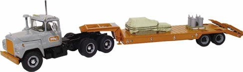 First Gear 1/34 PP&L R-Model Mack Tractor with Lowboy Trailer