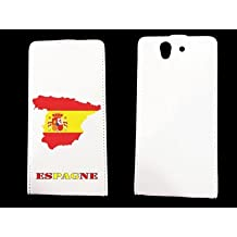 leather Sony Xperia Z Espagne - - ? case blanche - Espagne1 -