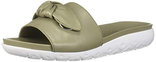 Aerosoles Women's Manicure Flat Sandal, LT Green Leathe, 10 M US
