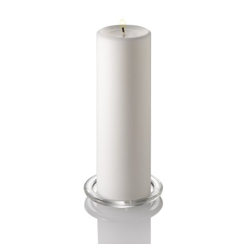 Richland 12 Glass Eastland Cylinders 10.5'' and 12 White Pillar Candles 3 X 9