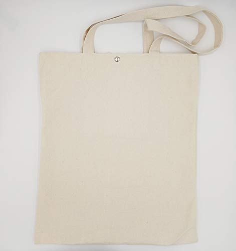 NEWReusable heavy Duty and Strong Large Natural Canvas Tote Bags for shopping, 2pcs/pack