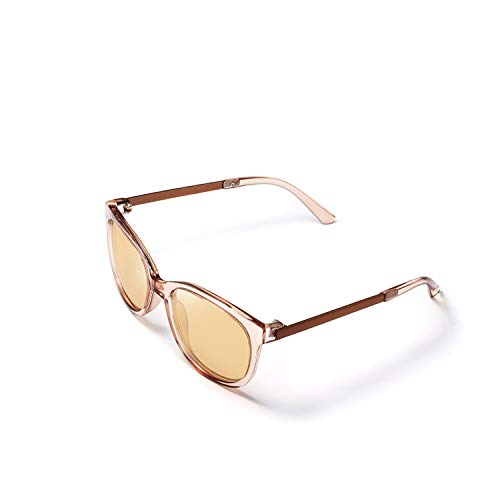 Polarized Sunglasses Women Popular Transparent Frame Cat Eye Sun Glasses Vintage Ladies UV400,NO1
