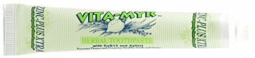 (VITA-MYR Zinc-Plus Xtra Herbal Natural Toothpaste with CoQ10 and Xylitol 5.4 Ounce)