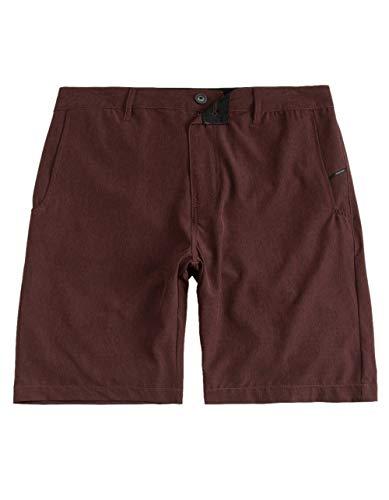 NITROUS BLACK Format Burgundy Hybrid Shorts, Burgundy, 30