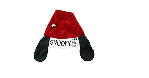 "Peanuts Snoopy ""Ears"" Christmas Jingle Santa Hat ~ Adjustable"