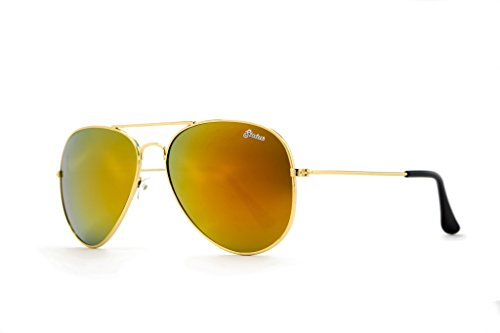 Status Shades Men's Aviator Plastic Maverick: Gold Standard - Shades Status