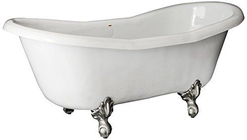 Restoria Bathtubs The Duchess Bathtub Nickel Clawfeet No Drilings