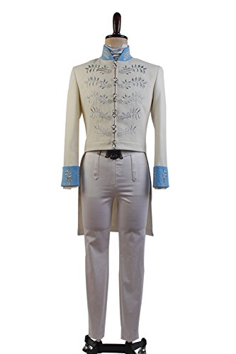 Sidnor Cinderella 2015 Film Prince Charming Kit Outfit Cosplay Costume -