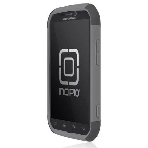 Incipio Motorola Photon 4G SILICRYLIC Hard Shell Case with Silicone Core - 1 Pack - Retail Packaging - Dark Gray/Light Gray
