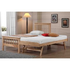 Flintshire Furniture Pentre Guest Bed, Hard Wood, Natural Oak