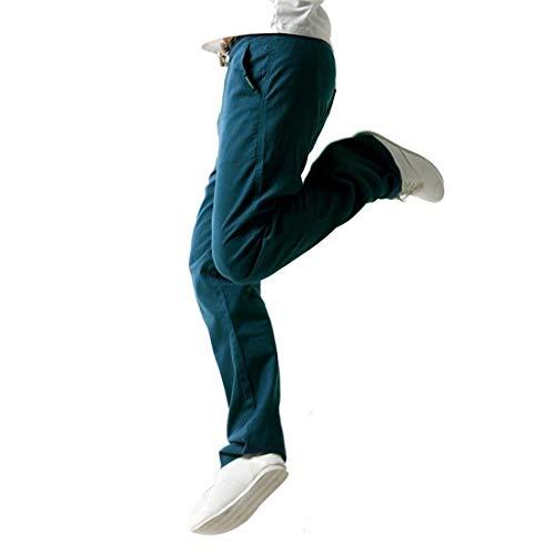 Mode Pantaloni Casual Fit Lino 3xl Marca Da color Di Uomo Slim Leggero Sportivi Blau Della Tuta Size wSY7xSqrEn