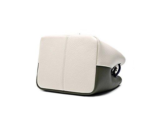 Bianco Messaggero Nappe Laptop Xddb Di E Verde Ladies Del Cuoio Bag Borse F8EHwz
