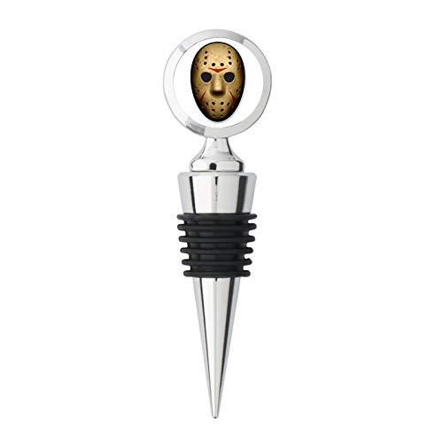 Hockey Horror Mask Metal Steel Bottle Stopper Winestopper