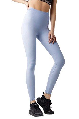 Ropa de Forma Pantalones Yoga y Polainas Para Bailar para Mujeres de MD Moldeador de Cuerpo Panza Muslos y Caderas Azul Claro