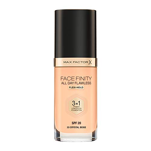 Max Factor Facefinity All Day Flawless 3 In 1 Foundation SPF 20, No. 33 Crystal Beige