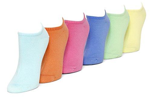 Hue Sport Cotton Liner 6 Pack (Pastel)