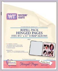 "Westrim Strap Hinged Pages, 8 1/2"" X 11"", White, 10"